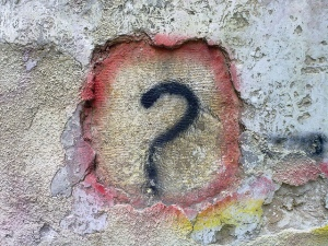 Image credit: Question Mark Graffiti by Bilal Kamoon, Flickr, CC BY